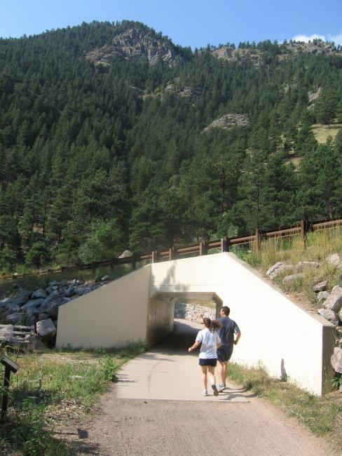 Joggers on the Boulder Creek Bike Path