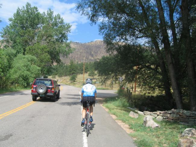 Dan at the Bottom of Lefthand Canyon Road
