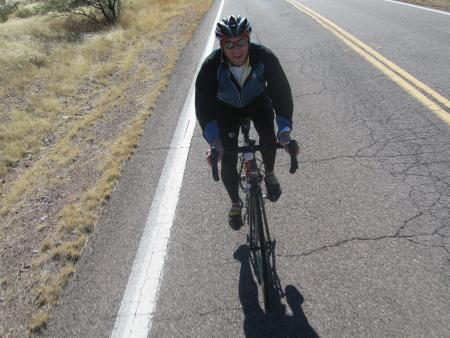 Vin on my wheel on Arivaca Rd