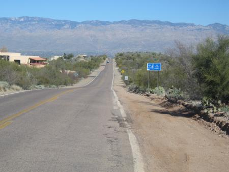 Old Spanish Tr toward Colossal Cave
