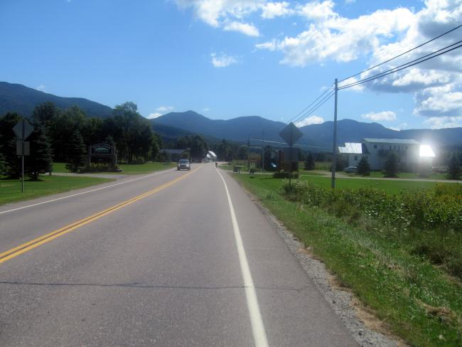 Heading for Smugglers Notch on VT108