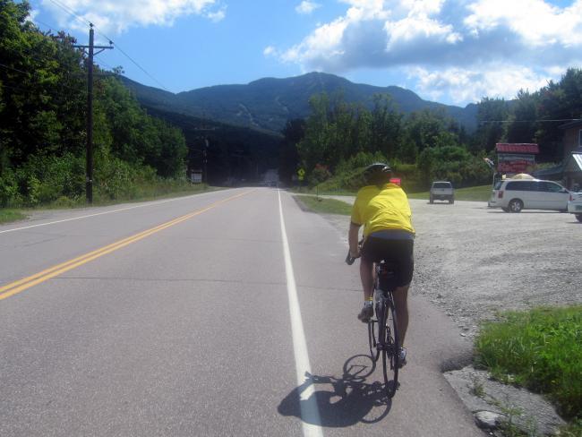 Steve M riding to Smugglers Notch
