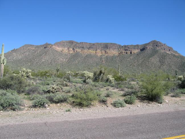 Cliffs off Usery Pass Rd
