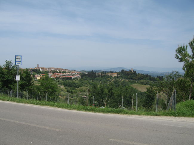 Looking back towards Montespertoli