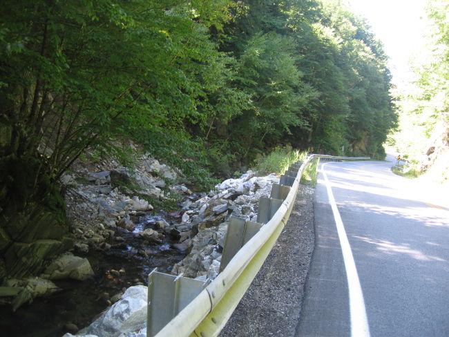 Looking back downstream at Roaring Brook Wallingford