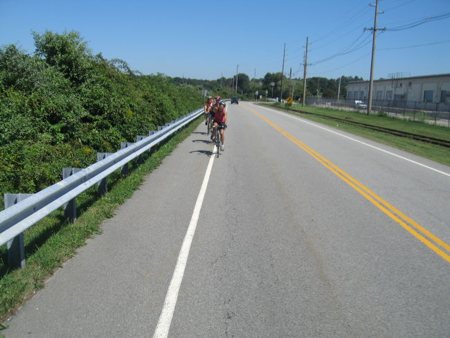 Defense Hwy Commuter Bike Lane W side of Newport