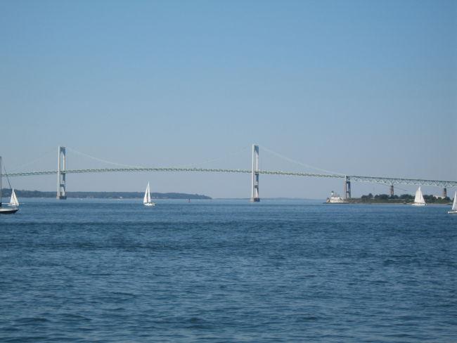 Newport Bridge from Ft Adams