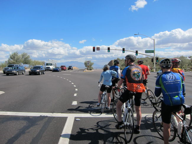 Turning onto Palisades Fountain Hills