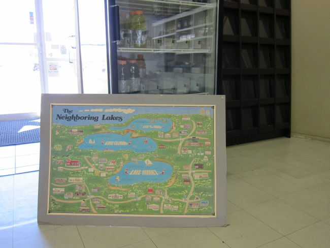 Map in the Rio Verde Convenience Store