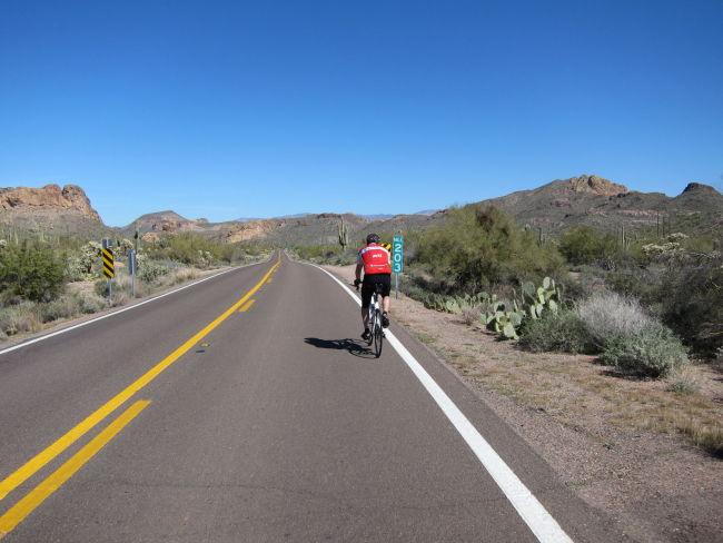 Jim heading for Tortilla Flats