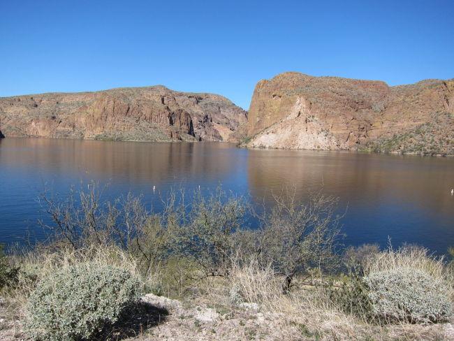 Looking across Canyon Lake