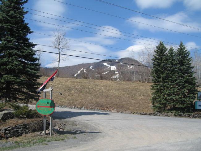 Ski slopes on Hunter Mtn